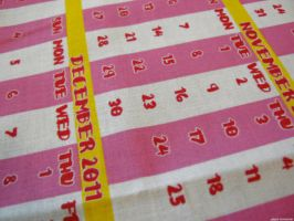 Tea Towel Calender by JadeGordon
