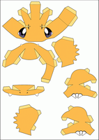 Charmander Papercraft Part 1