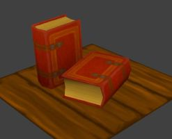 low poly books WIP by Madgharr