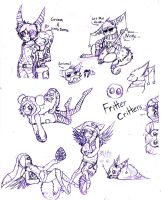 Fritter Critter Sheet of Awesome by FuneralDyingheart