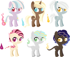 [OPEN] Fire Pony Adopts by Minn-co