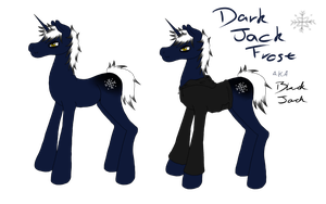 Dark Jack Frost/Jack Black pony design by Hetalia-Ask-England