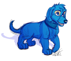 Blue Doggie by ToLoveaKiwi