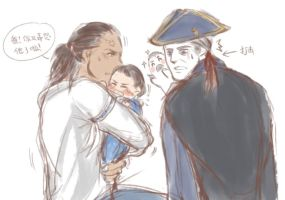 [SLASH]Father you made him crying again! by Mcpricorn