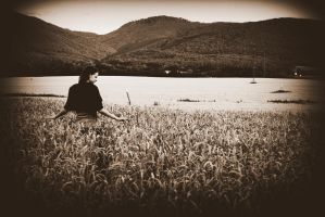 girl in a field by felicitas4