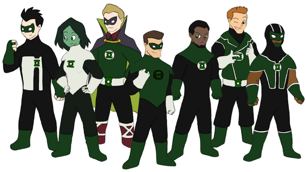 Green Lanterns of Earth by Gaiash