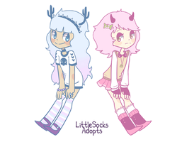 [CLOSED] Pastel Goth Gurls by LittleSocksAdopts