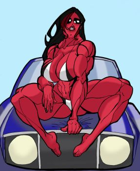 Red She Hulk Variant by MrLively