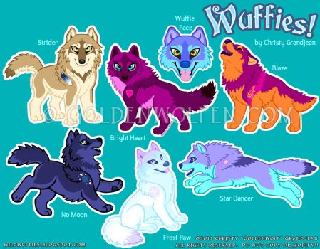 Wuffies Stickers by Goldenwolf