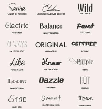Font Pack #3 by shiny-a
