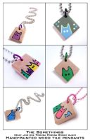Somethings Tile Pendants by mintconspiracy