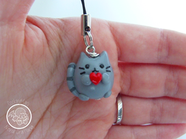 Pusheen The Cat phonestrap by CookingMaru