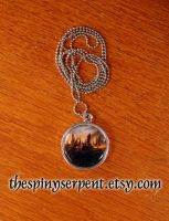 DH Burning Hogwarts Necklace by kittykat01