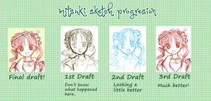 Mitsuki Sketch Progression by MitsukiTenshi