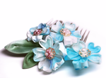 A Promise in Blue. kanzashi by hanatsukuri