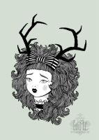 Deer Girl by zeloco