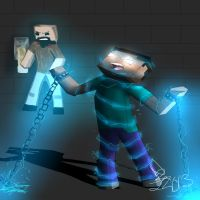 Herobrine will not escape by TheSpeed0fLlight