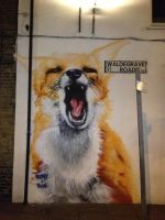 Turnpike Lane Fox by Boe-art