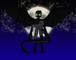 I am the night  corrupted daster by DasterEndermanalbino