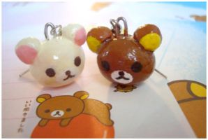 Rilakkuma Earrings by chocowaffle