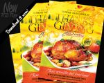 Thanksgiving Celebration Flyer Template PSD by REMAKNED