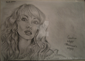 Candice Night's portrait by TigaLioness