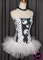Nightmare Before Xmas Corset by TheVintageDoctor