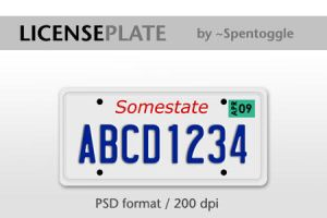License Plate by spentoggle
