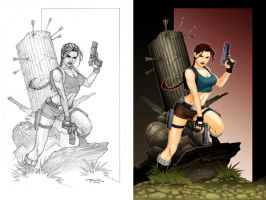 Tomb Raider color work by tato by tatosaurio