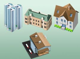 free 3D house icons by FreeIconsFinder