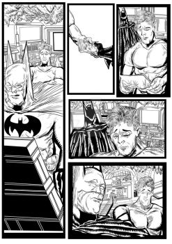 Batman and Robin sequential artwork page 3-2017 by brianrobinson