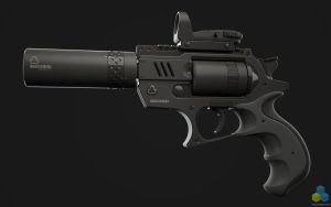 SciFi Snubnose Revolver - Shot1 by pixelquarry