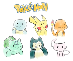 simple Pokemon doodles by aLameUserName