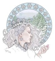 Snowflakes Sharp as Knives by Leyna-art