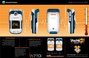 Sony Ericsson Walkman 710i by stitchDESIGN