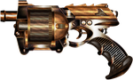 Rusty Steampunk Gun by IllustratorG