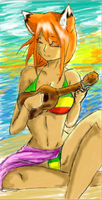 More practice .: Ukulele:. by Misha-needs-love