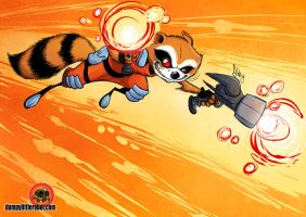 Rocket Racoon by AbigailRyder