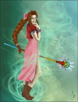 Aerith: Healing Wind by ava-angel