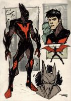 Batman Beyond Re-Design by DenisM79