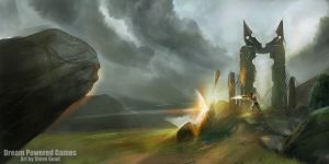 Small Ruin concept - WarCry by stevegoad