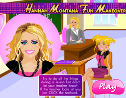 Hannah Montana Fun Makeover Game by willbeyou