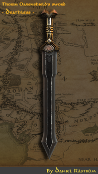 The Hobbit - Thorin Oakenshield's sword Deathless by mexpex