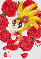 Amiga with roses by sheezy93