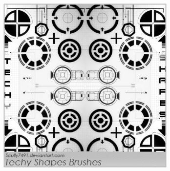 Techy Shapes Brushes by Scully7491