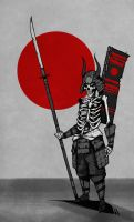 Naginata Skeleton by ThePsychoGoat