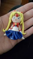 chibi sailor moon charm by silentangel01