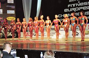 Female fitness competitors by digitalgod