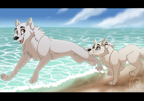 Beach Run  by WindWo1f