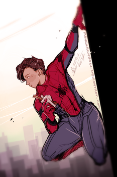 Spiderman Homecoming doodle by mangarainbow